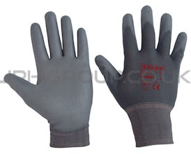 Grey PU Coated 'Puggy' Glove (M)