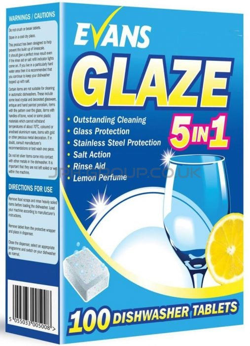 Evans Glaze Dishwasher Tablets x 100