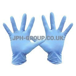 Blue Nitrile Gloves x 100 Powdered Large