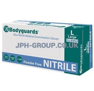 Blue Nitrile Gloves x 100 Large