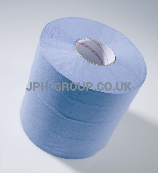 2 Ply Blue Centre Feed 150Mtr x 6