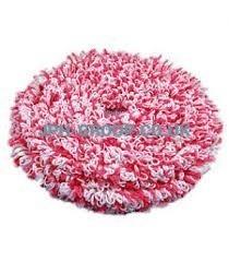 15'' Hard Floor Bonnet Mop White & Pink