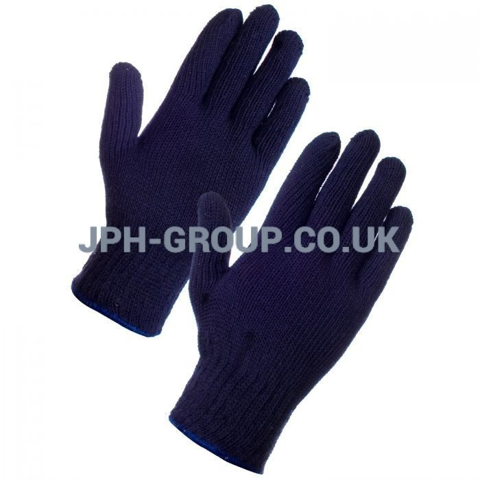 Blue Mixed Fibre Gloves