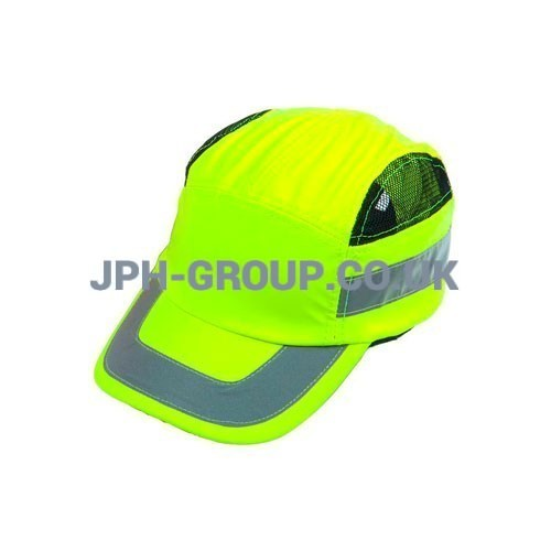 Hi Vis Baseball Safety Cap Yellow