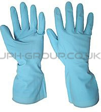 Blue Rubber Gloves Medium