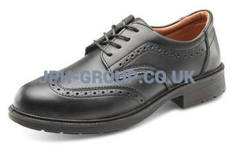 Brogue Safety Shoe Black Size 10