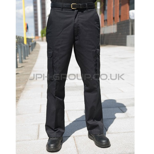 Black Cargo Trousers 30R