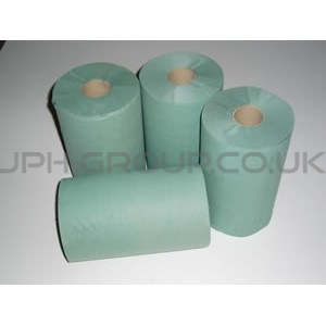 "Embossed Roller Towels Green 8"" x 16 Rolls"