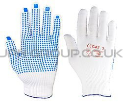 Blue Dot Glove Large