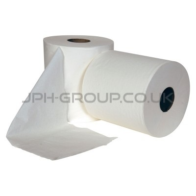2 Ply White Centre Feed Roll 150M
