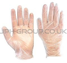 Powder Free Vinyl Gloves Medium x 100