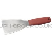 "3"" Stainless Steel Hand Scraper Red Handle"