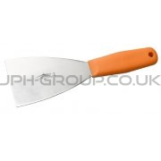 "3"" Stainless Steel Hand Scraper Orange Handle"