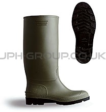 Green Safety Wellington Boot Size 3