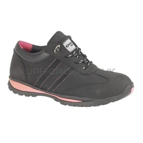 FS47 Ladies Black Leather Trainer Size 3