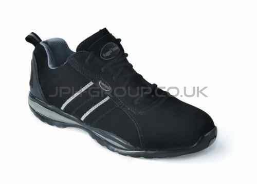 Black Leather Safety Trainer Size 4